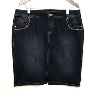 Lane Bryant Denim Skirt
